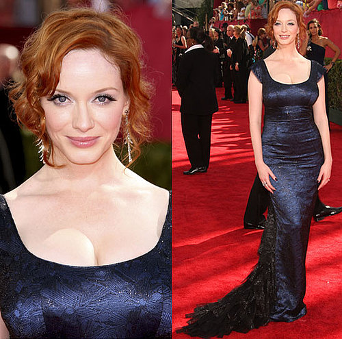 Photo of Christina Hendricks on the Emmy Awards Red Carpet