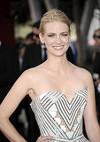January Jones' geometric bodice.