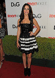 90210's Jessica Lowndes in Sequins and Stripes