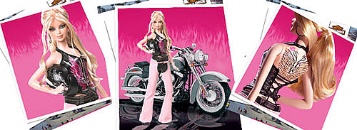 Lil Links: Harley Davidson Barbie Gets a Tattoo