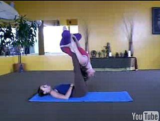 Partner Yoga Pose: Reverse Bat to Front Walkover