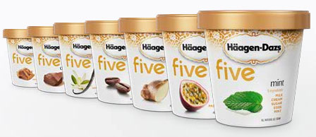 Haagen Dazs Five Ice Cream