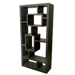 Bring the Tetris-inspired bookshelf trend into your home with the Exotic Retreat Bookcase/Room Divider ($349).