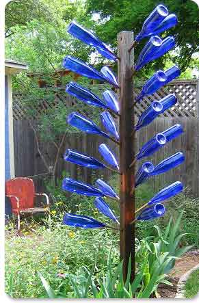 Build a Bottle Tree For Your Garden