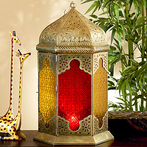 This Brass Floor Lantern ($79) is over two feet tall, and will really add some Moroccan flair to your next backyard bash.