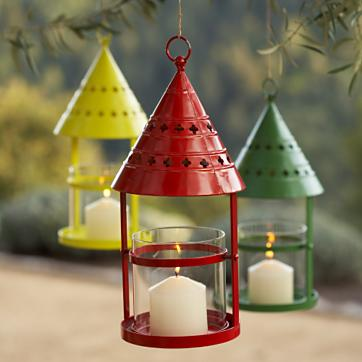 I love the Nantucket Lantern's ($29) triangular top. It reminds me of a child's drawing of a house. And in such bright, cheery colors, these lanterns are sure to please.