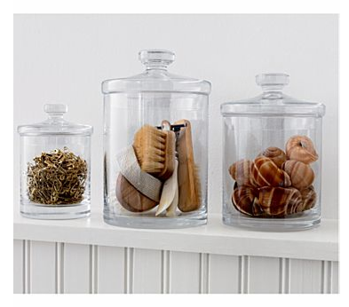 While they might not be very magical, grooming items look so much prettier when encased in these Glass Canisters ($16.95-24.95)