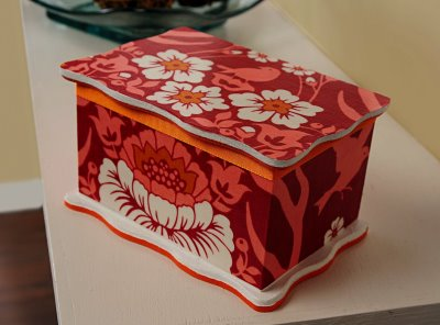 Mod Podge Rocks helps you to create this charming decoupaged trinket box.