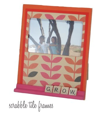 How to Be Domestic! creates these cute Scrabble tile frames.
