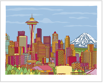 If the Emerald City is what makes you sparkle, perhaps Andy Pratt's limited edition Seattle print ($20) is for you. He also has other prints of Manhattan, Hong Kong, Boston, San Francisco, Brooklyn, and Queens, if Seattle hasn't won your heart yet.