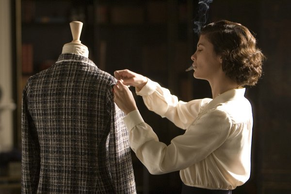 This silk blouse drapes beautifully on Coco's frame.