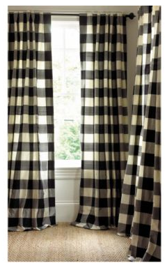 Add formality to your home's windows with these Matignon Silk Checked Curtain ($159-199).
