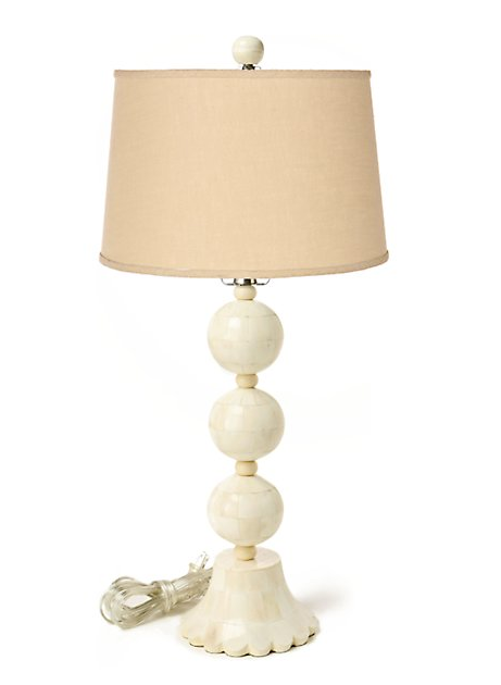 The String of Pearls Lamp ($128) mimics Coco's classic necklace.