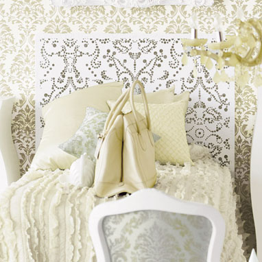 Show off your ladylike tastes with the Lace Pattern Headboard ($299-499).