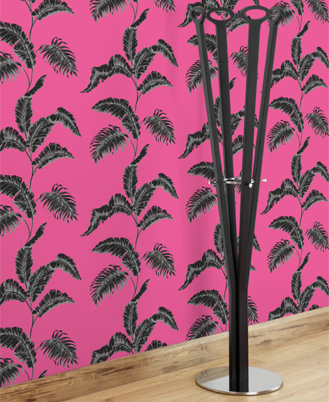 Pattern your world with the Julien Macdonald Paradise Pink wallpaper ($60).