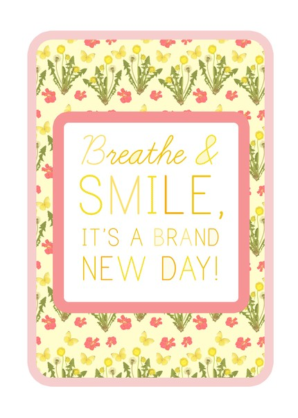 Feeling frustrated? Place this charming floral print Breathe & Smile poster ($20) close to your bedside table. That way, it can serve as a reminder to look on the bright side of life, each and every morning.