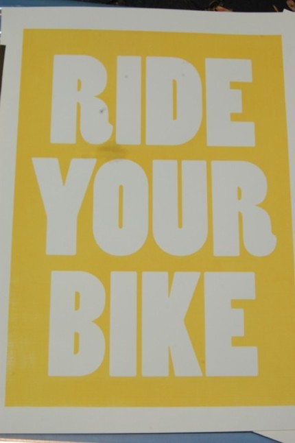 Need to get a little exercise? This instructional Ride Your Bike poster ($20) should provide the needed motivation.