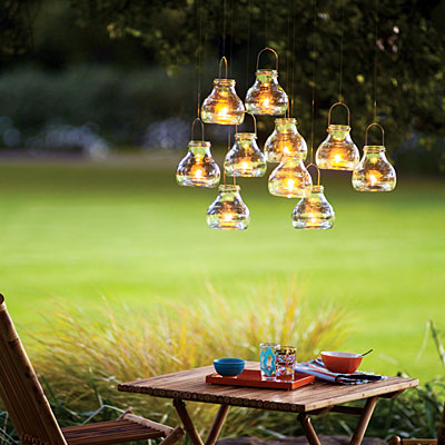 Sunset helps you to add some dramatic lighting to your next outdoor gathering.