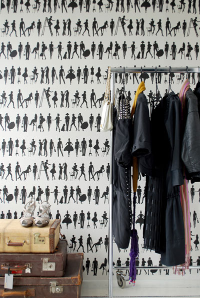If you've put up new wallpaper, or have found a cute, new way to organize your wardrobe (I love to check out your favorite frocks!), post those photos to the new group.  Source