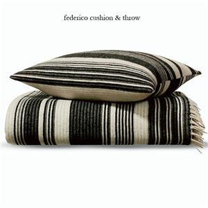 Add a touch of black and white stripes to your home with the Missoni Federico Throw and Cushion ($109-$334).