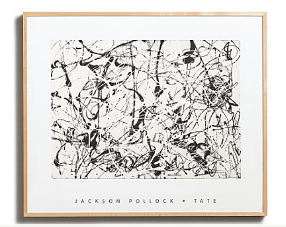 Get the look with a Silkscreen ($499) by the king of splatter paintings: Jackson Pollock.