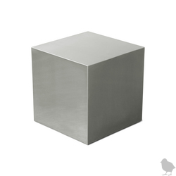 If pink cubes are too over the top for you, try the Gus Modern Stainless Steel Cube  ($695).
