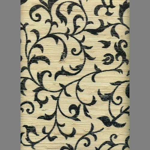 You can get the same look at your home by ordering printed grasscloth online, such as this ivory grasscloth with Asian scrollprint.