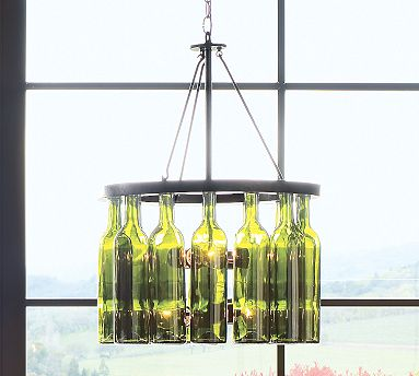 Meanwhile, the Pottery Barn Wine Bottle Chandelier ($399) is made from authentic green-glass wine bottles for a more artistic impact.