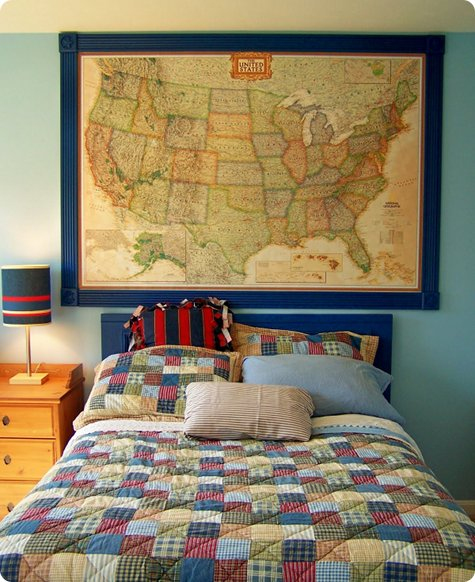 If you're a fan of the good old US of A, consider making this framed map project, from Design*Sponge.
