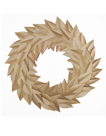 Country Living has a great take on Fall decorations with this paper wreath.