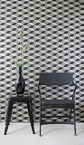 Ferm Living's Squares Wallpaper ($115) has depth and makes your furnishings pop!
