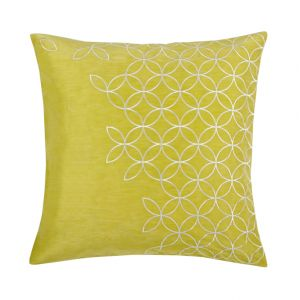 Go for lemony color and pretty detailing with the silk blend Latham Pillow ($75).
