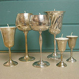 Sunset helps you to add swank to your mantel with these cool goblet votives.