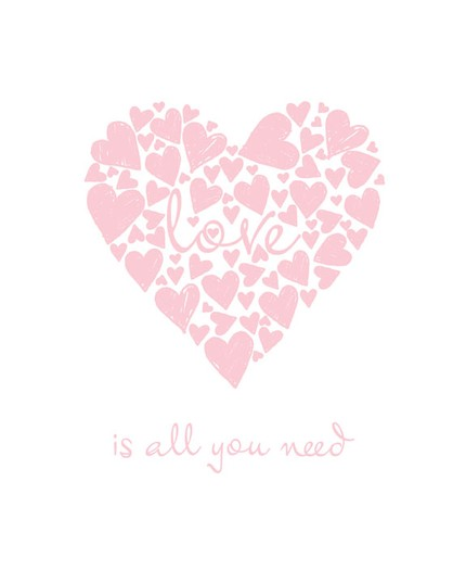I love the soft, pink take on Love Is All You Need ($23) in an adorable eight-by-10 print.