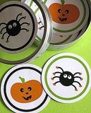 These Pumpkin and Spider Sticker Labels ($5) are completely charming, and can be used to perk up all sorts of things.