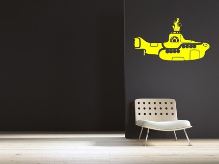 Go for bright and poppy imagery with the Yellow Submarine Wall Decal ($24.99).