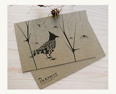 A witchy raven is ready for the party in this Halloween Crow Card ($12 for a set of 10).