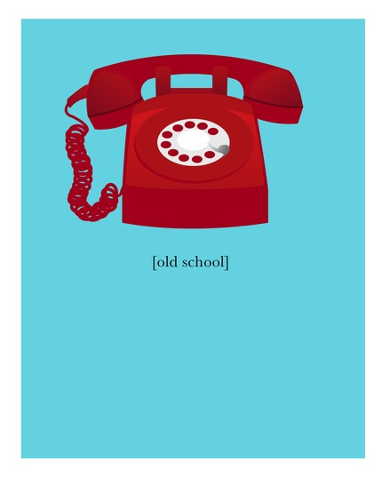 Or add a red phone to your home's walls, with this Rotary Phone Print ($15).