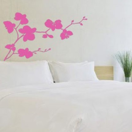 The Orchid Flowers Vinyl Wall Decal ($34) has a soft, organic design that will perk up any wall.