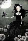 My Only Friend ($30) is a print by French artist Anne-Julie Aubry, and recalls the same supernatural feel as Poe's poem. Perhaps this girl is named Lenore?