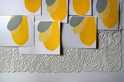 Gray and yellow is one of my favorite color combinations, and I love how pretty these colors look on this Squash Card ($6). I'd frame it!