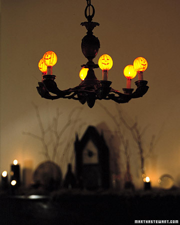 Martha shows you how to turn you chandelier into something spooky.