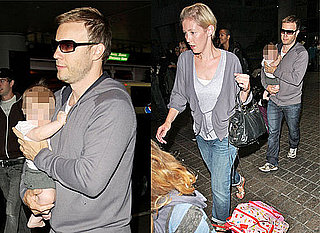 Photos Of Gary Barlow, His Wife Dawn And Their Children At LAX. Gary Has Announced He's Organising A Children In Need Concert