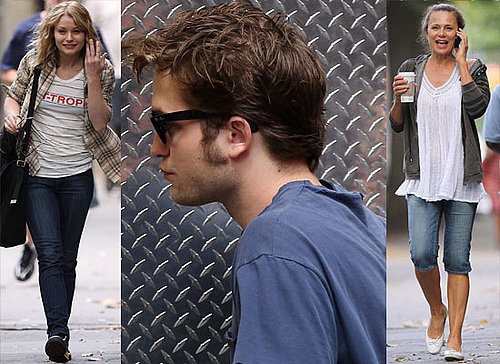 Photos Of Robert Pattinson, Emilie De Ravin and Lena Olin Taking A Break From Remember Me. Sacha Baron Cohen aka Bruno Wants Rob