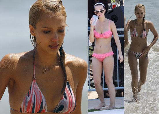 Photos Katy Perry Pink Bikini Miami Jessica Alba Bikini Malibu Beach Cash Warren Celebrity Wallpapers   Jessica Alba posing in bikini wallpaper