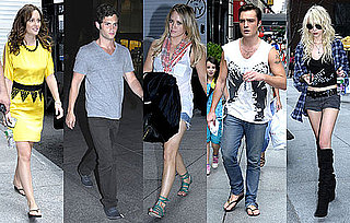 Photos of Gossip Girl Cast Leighton Meester, Ed Westwick, Penn Badgley, Taylor Momsen, Hilary Duff Filming in New York