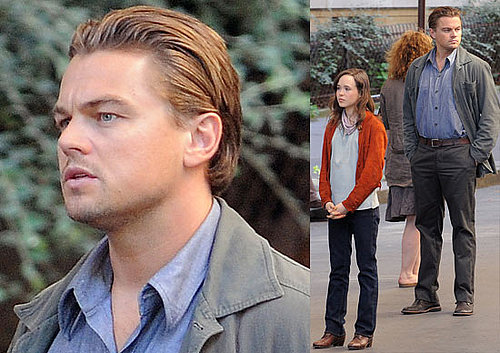 Photos Of Ellen Page and Leonardo DiCaprio Filming Inception In Paris, France
