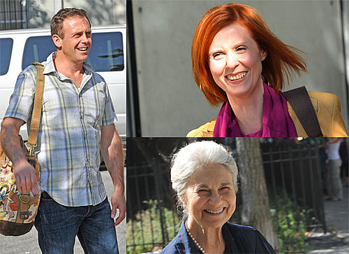 Photos Of Cynthia Nixon, David Eigenberg, Lynn Cohen On Set For Sex and the City 2 - Miranda and Steve Are Back!