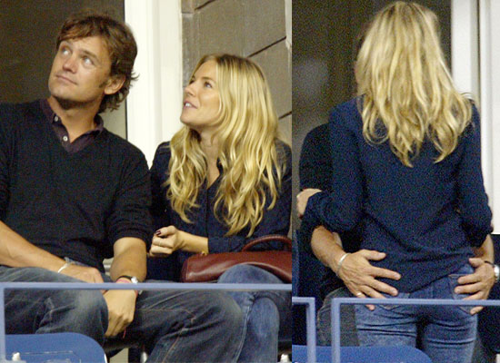 Sienna Miller And Boyfriend George Baker At The Tennis
