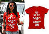 Katie Price Keep Calm and Carry on T-Shirt